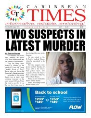 Caribbean Times 80th Issue - Monday 29th August 2016