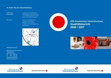 Qualitätsbericht 2006 / 2007 - Clementinenhaus Hannover