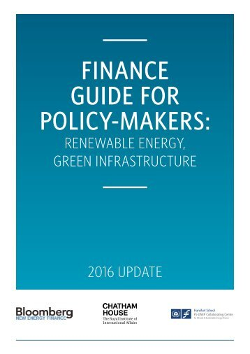 FINANCE GUIDE FOR POLICY-MAKERS