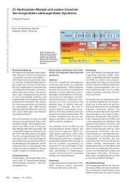 Genetische Tests in der Patientenversorgung 21 Hydroxylase ...