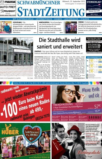 StadtZeitung Schwabmünchen 23.09.2016