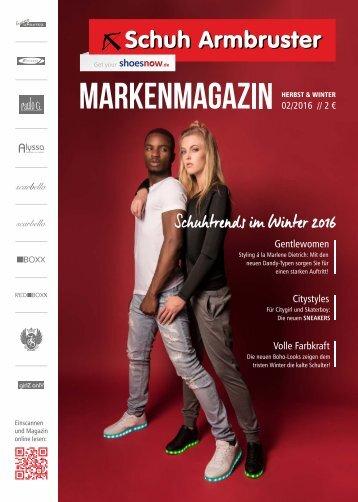 Schuh Armbruster Markenmagazin Herbst & Winter
