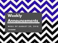 Week of August 31 2015