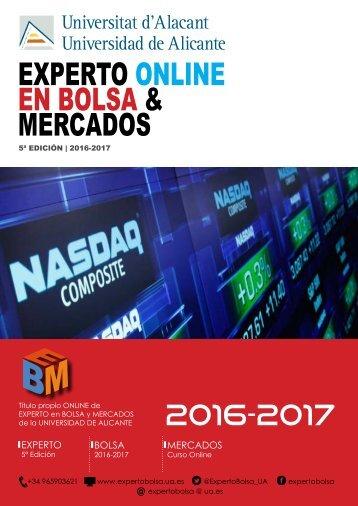 EXPERTO ONLINE EN BOLSA & MERCADOS
