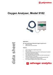 Oxygen Analyser, Model 9182 data sheet - oleinitec.se