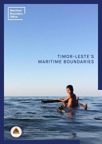 TIMOR-LESTE'S MARITIME BOUNDARIES
