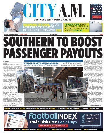 SOUTHERN TO BOOST PASSENGER PAYOUTS