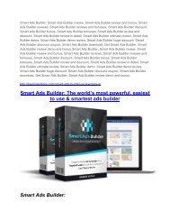 Smart Ads Builder Review-$9700 Bonus & 80% Discount