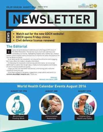 Newsletter Aug 2016