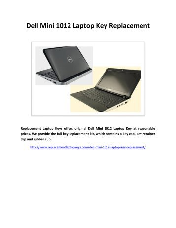 Dell Mini 1012 Laptop Key Replacement
