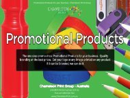 Promotional Products for your business - Chameleon Print Group