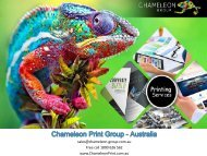 Whole of Business Printing Services - Chameleon Print Group