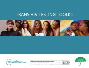 TRANS HIV TESTING TOOLKIT