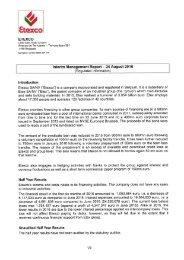 Etexco Interim management report 2016