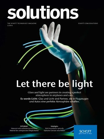 "Technology Magazine ""SCHOTT solutions"" Edition 2/2016"