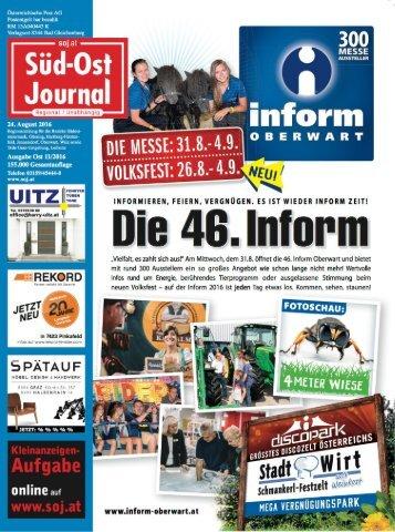 Süd-Ost Journal Ausgabe Ost 11/16