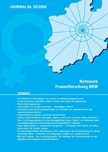 THEMEN: Netzwerk Frauenforschung NRW JOURNAL Nr. 20/2006