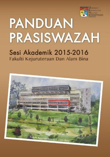 Buku Panduan Prasiswazah Sesi Akademik 2015-2016