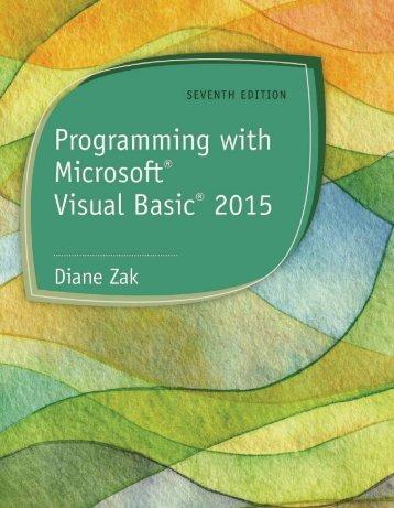 Programming with Microsoft Visual Basic 2015 [-PUNISHER-]