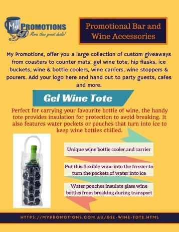 Trendy Promotional Bar and Wine Accessories