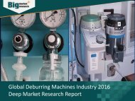 Deburring Machines Industry Size, Share, Trends & Opportunities