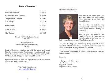 Elementary Handbook - Park Hill School District