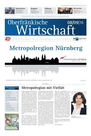 Oberfränkische Wirtschaft - Ausgabe 08.09/2016
