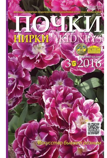 """Журнал """"Почки"""" №3 (17) 2016"""