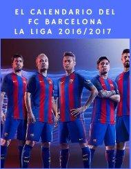 El calendario de la Liga 2016-2017 para el FC Barcelona