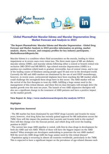 jsb market research pharmapoint dry eye Pharmapoint: irritable bowel syndrome - global drug forecast and market report offers insights on drivers & opportunities and key segments to help in gaining information about past progress, current dynamics, and scenario for the forecast period.