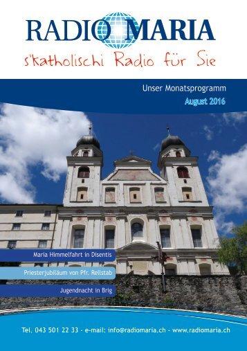 Radio Maria Schweiz - August 2016