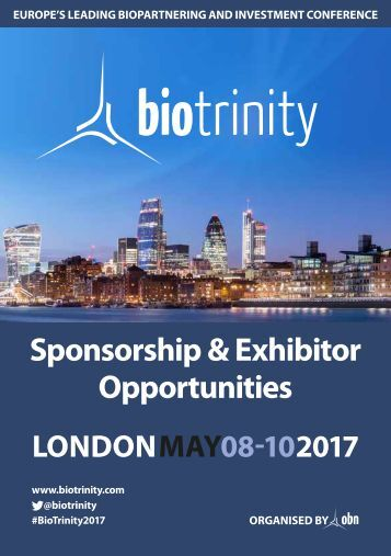 BioTrinity 2017 Sponsorship and Exhibitions