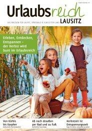 Ferienmagazin Urlaubsreich Lausitz, Ausgabe Herbst und Winter 2016
