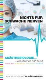 Anästhesiologie - vielseitiger als man denkt
