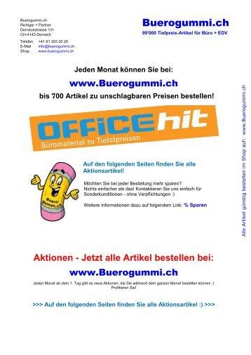 Bürobedarf zu Tiefstpreisen - OfficeHit September 2016 - von Buerogummi.ch