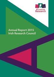 Annual Report 2015 Irish Research Council