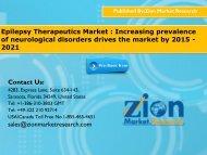 Epilepsy Therapeutics Market