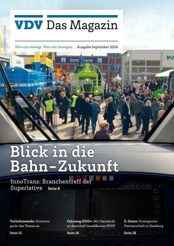 VDV Das Magazin Ausgabe September 2016