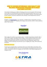 How to choose reliable yet affordable webhosting service