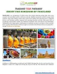 THAILANDTOURPACKAGES-ENJOYTHEKINGDOMOFTHAILAND