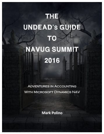 UNDEAD'S GUIDE TO NAVUG SUMMIT 2016