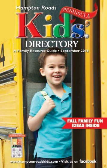 Peninsula Edition of the Hampton Roads Kids' Directory: September 2016