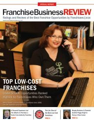 Top Low-Cost Franchises of 2016