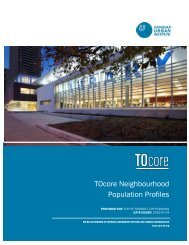 TOcore Neighbourhood Population Profiles