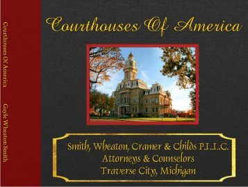 Courthouses Of America Photo Book - Hard Cover - Lay Flat - Fine Art