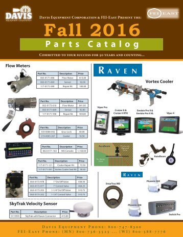 Fall Parts Catalog - FY2017