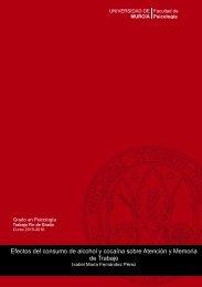 Efectos del consumo de alcohol y cocaína sobre Atención y Memoria de Trabajo