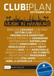 Clubplan Hamburg - September 2016