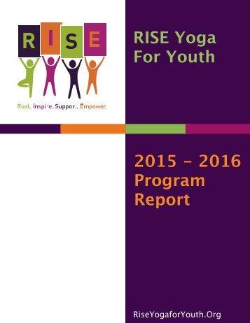 2015-2016 RISE Program Report