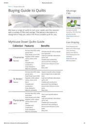 Buying Guide Quilts